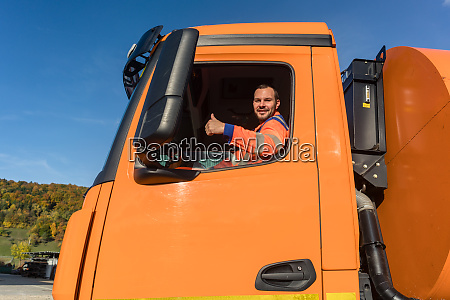 waste collector driving