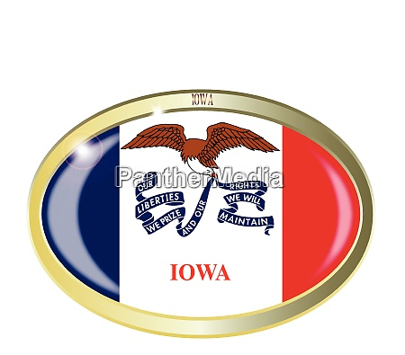iowa state flag oval button