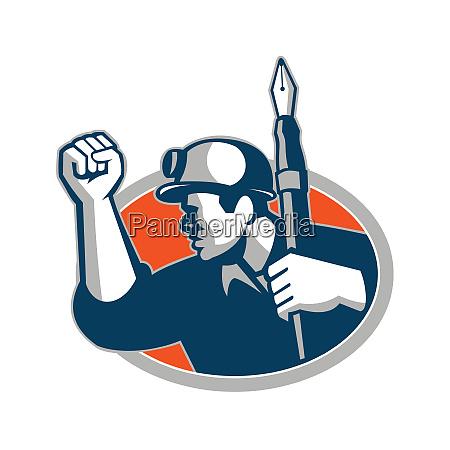 coal miner holding pen mascot