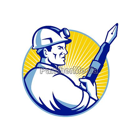 coal miner fountain pen mascot