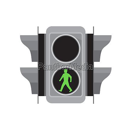 traffic light man walking retro