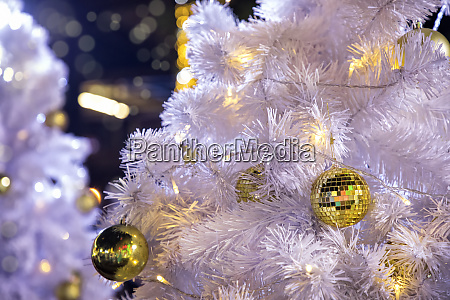 close, up, decorated, outdoor, white, christmas - 25873968