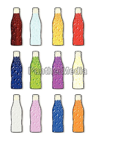 soda bottle flavor icons