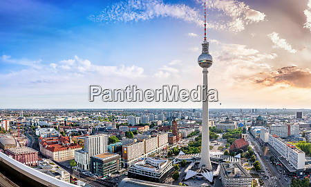 panoramic view at the berlin city