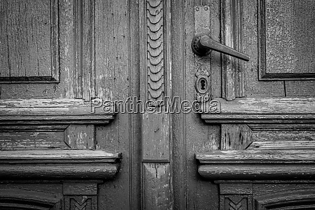 fragment of the old door and