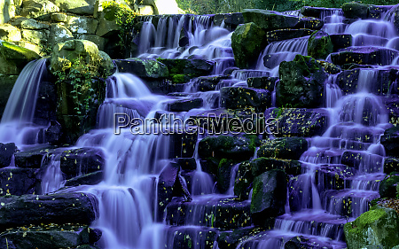 ornamental cascade waterfall in virginia water