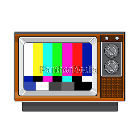 retro television set tv test card
