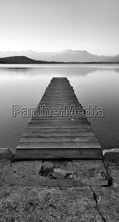 black and white pier on the
