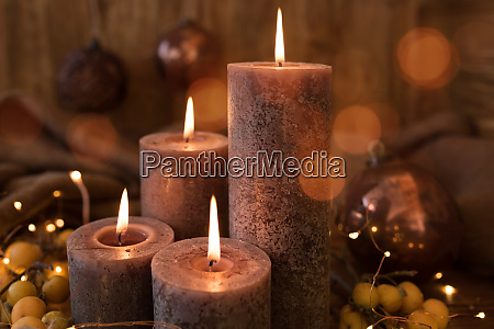 christmas candles still life