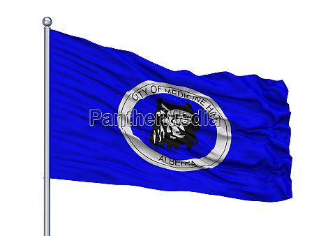 medicine hat city flag on flagpole