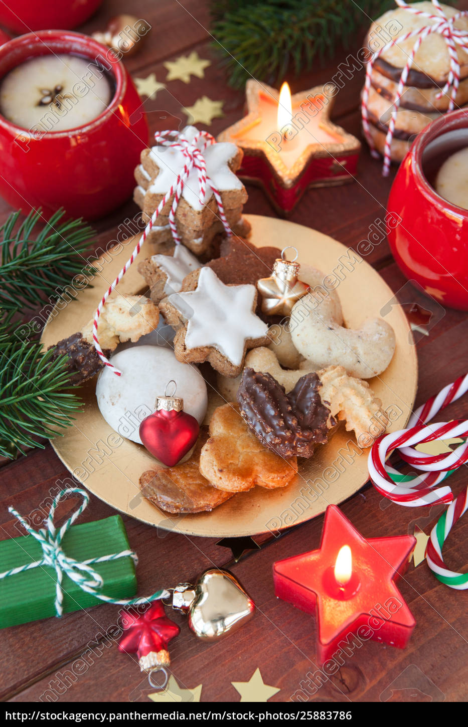 Stock Image 25883786 Variety Of Christmas Cookies