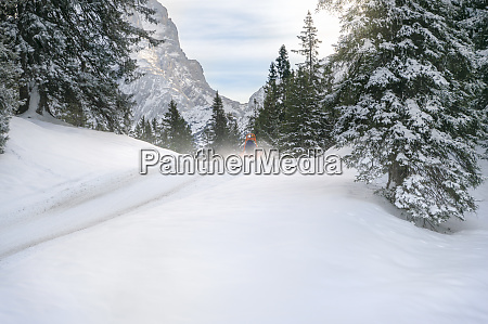 snowy scenery in the alps mountains