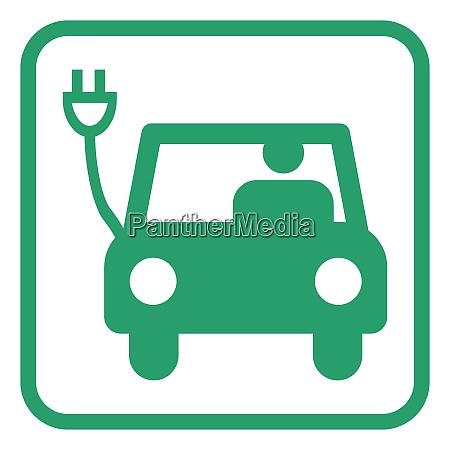 electric car pictogram