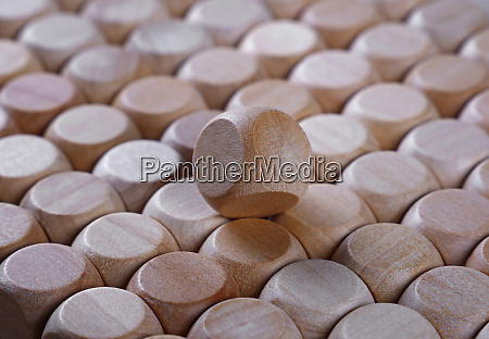 close up background of wooden dice