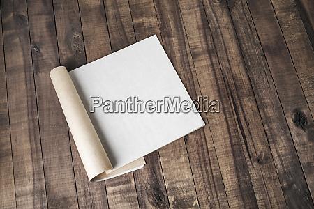 blank magazine or catalog