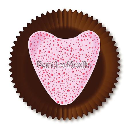 chocolate box heart
