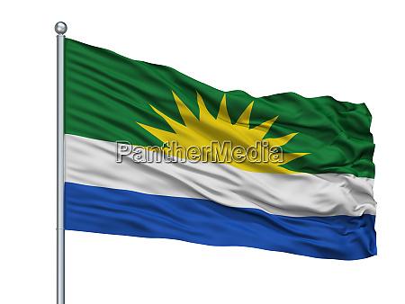 la gloria city flag on flagpole