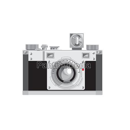 vintage 35mm film camera retro style