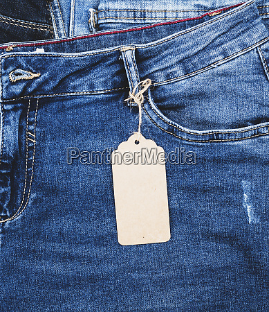 blue jeans with a brown paper