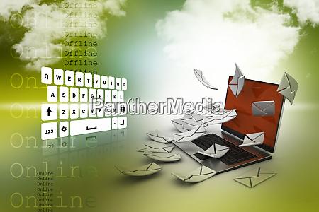 e mail concept