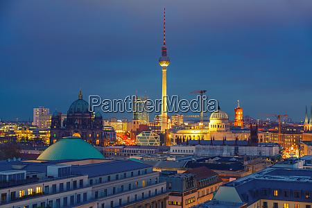 berlin aerial view germany