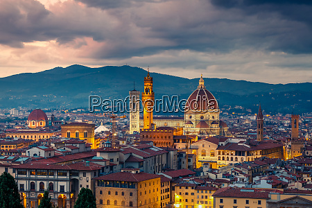 florence at evening