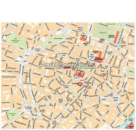 vector city street map of munich