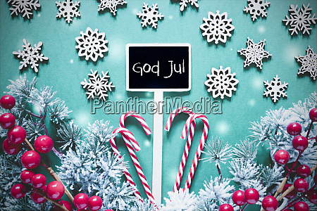 black christmas sign lights god jul