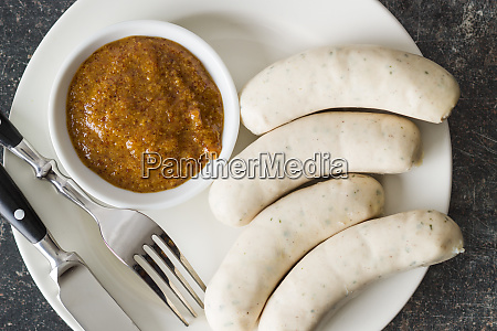 the bavarian weisswurst and mustard