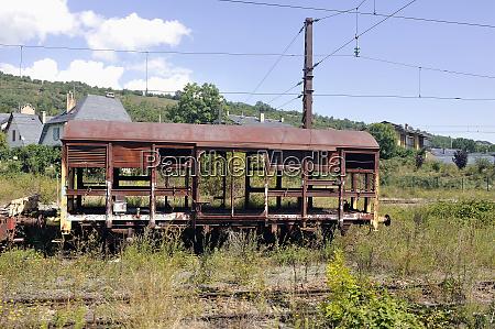 freight train car burnt