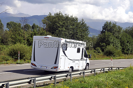 camper, driving, on, a, french, national - 25907960