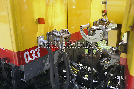 fastening system of the wagons of