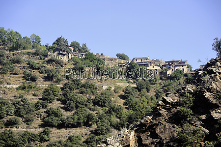 view of a small village in
