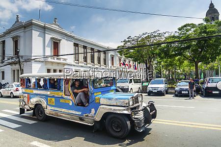 jeepney bus local transport traffic in