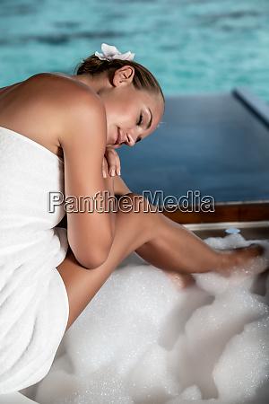enjoying spa vacation