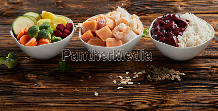 tasty healthy food ingredients for domestic
