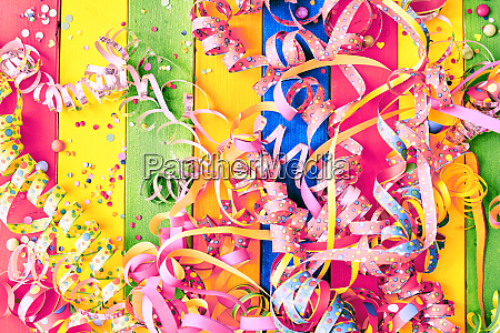 colorful carnival background with streamers
