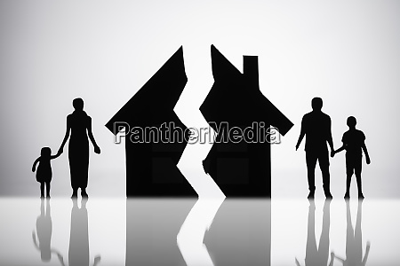 separation of family with broken house