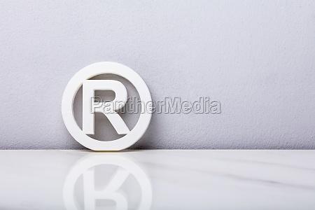 white registered trademark sign