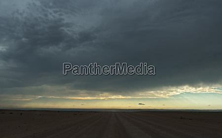 sunset in the namib desert near