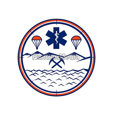 land sea air rescue icon