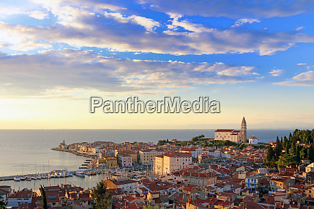 piran in slovenia old town and