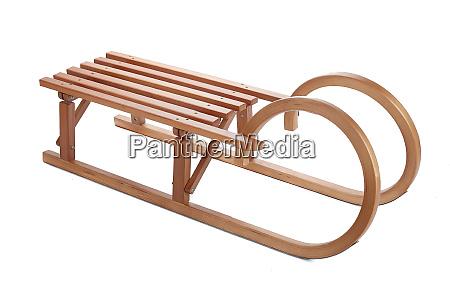 vintage wooden sledge