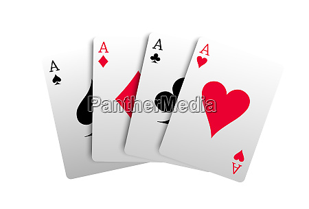 4 aces cards gambling luck casino