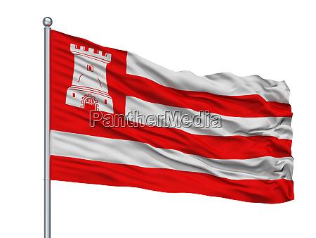 mandalay city flag on flagpole myanmar