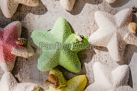 colorful fridge magnets with starfish shape
