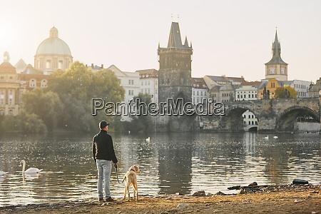 morning, walk, with, dog - 25920018