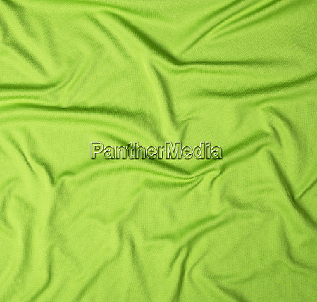 wrinkled green faux fabric canvas for