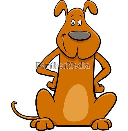 funny brown dog pet cartoon character