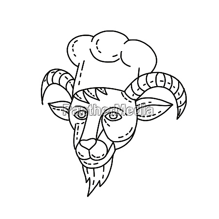 the goat chef cook baker mono